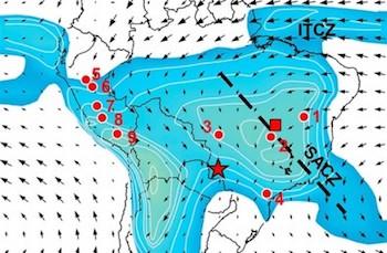 distribuição de chuvas no país durante mudanças climáticas