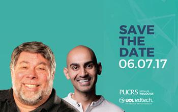 Steve Wozniak (cofundador da Apple) e Neil Patel (cofundador da Crazy Egg, Hello Bar e KISSmetrics)